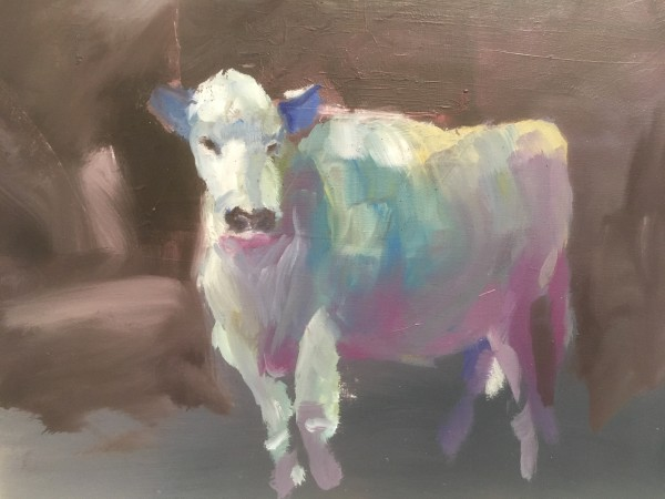 Winter cow by Marston Clough
