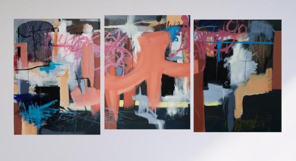 Flamingo Crescent : Triptych by Richard Ketley