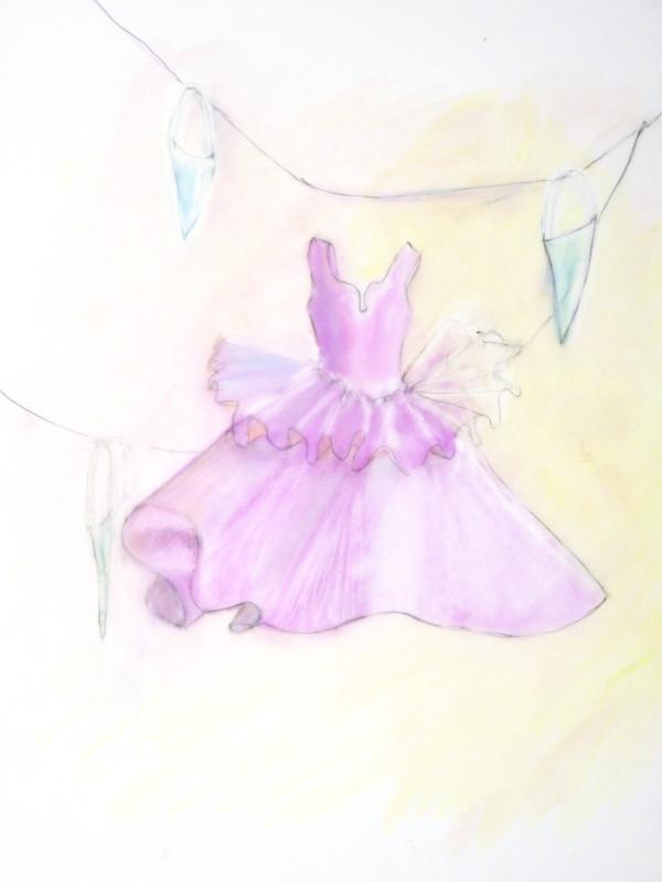 Little Pink Dress with Cones by KJ Bateman
