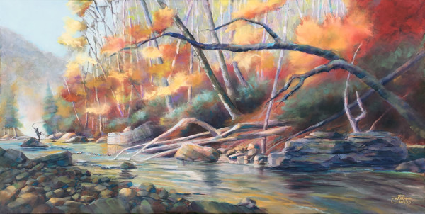 Autumn on Williams River by Pat Cross