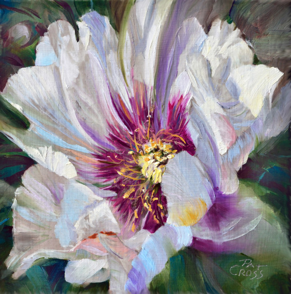 Crimson Core Peony by Pat Cross