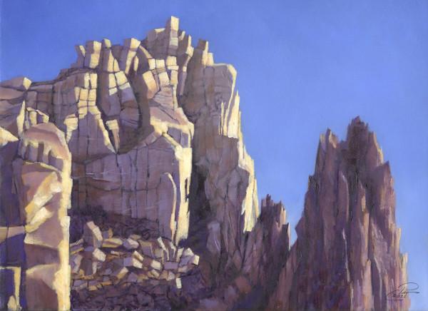 Golden Crown of Smith Rocks by Pat Cross