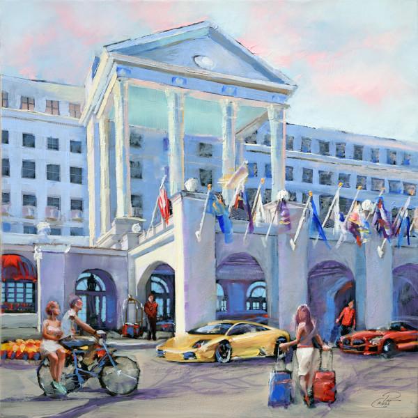 Patriotic Greenbrier Hotel by Pat Cross