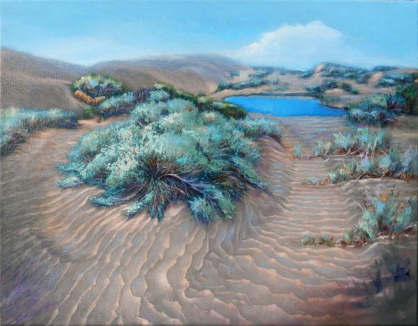 Sage on Desert Waves by Pat Cross