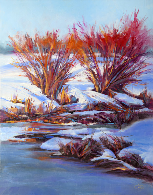 Twin River Willows by Pat Cross