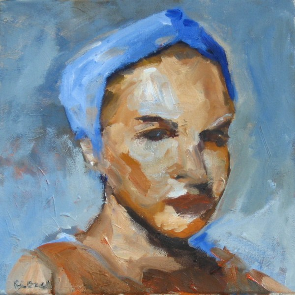 Blue Turban by Corinne Galla