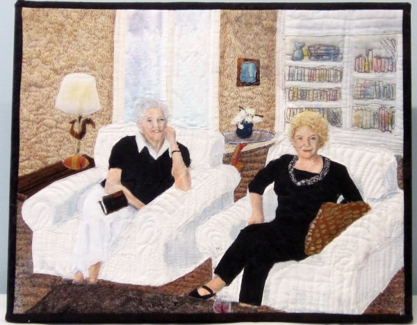 Peggy and Helen at Book Club by Cathy Drummond
