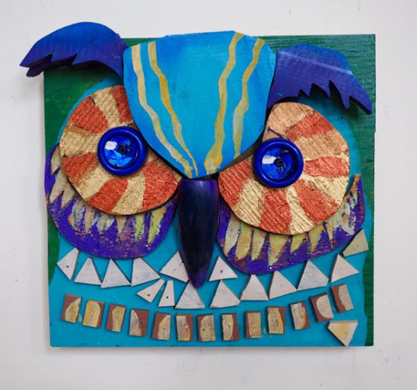 Bright Eyed Owl by George Thaddeus Saj
