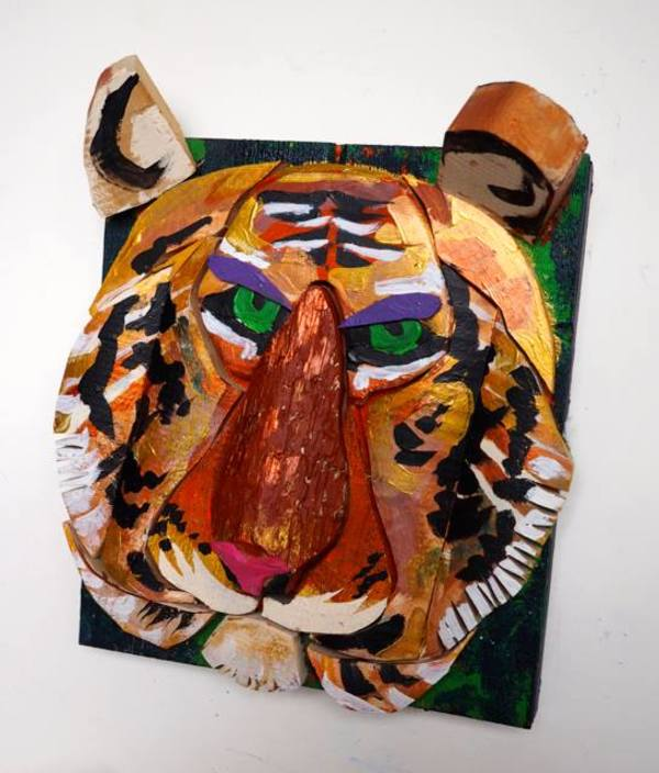 Aged Tiger by George Thaddeus Saj