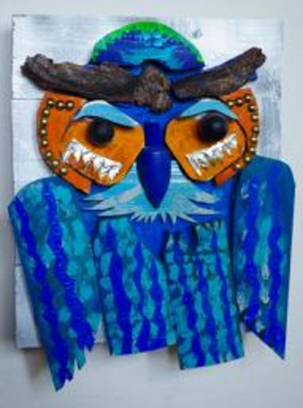 Contemplative Owl by George Thaddeus Saj