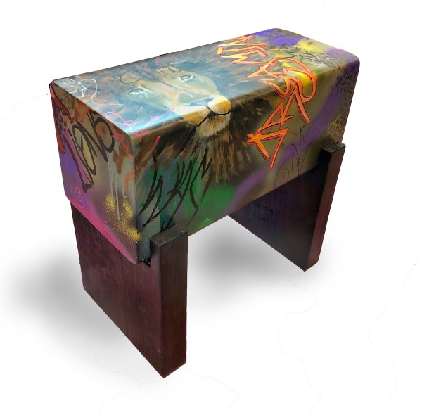 """""""The Old Man Was Dreaming Of Lions""""  Bench/Seat by Andrea Wendel"""