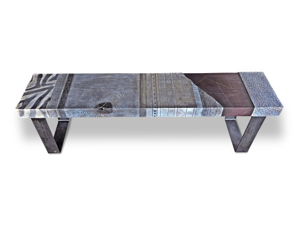 Modern Tribal Bench by Andrea Wendel