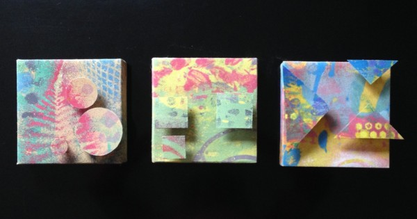 Triangle, Square, Circle (Small Triptych) by LZ Lerman