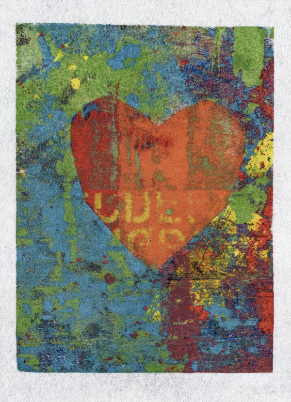 Rainbow Heart Giclee by LZ Lerman