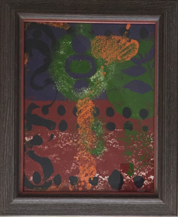 Purple Leaf II by LZ Lerman