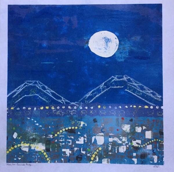 Moon Over Kozciosko Bridge by LZ Lerman