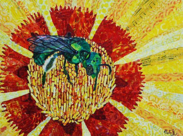 Green Bee: California Native Pollinator by Natasha Papousek