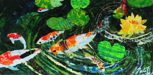 The Koi Pond by Natasha Papousek