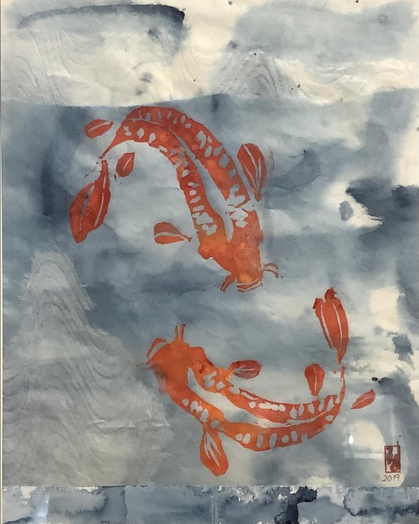 Two Koi by Janet Horne Cozens