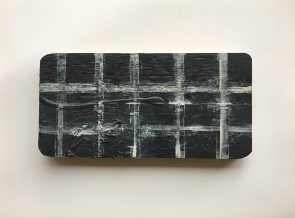 Grid / Plaid darkest blue by MaryAnn Puls