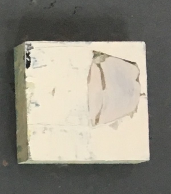Small square painting with heavy paint by MaryAnn Puls