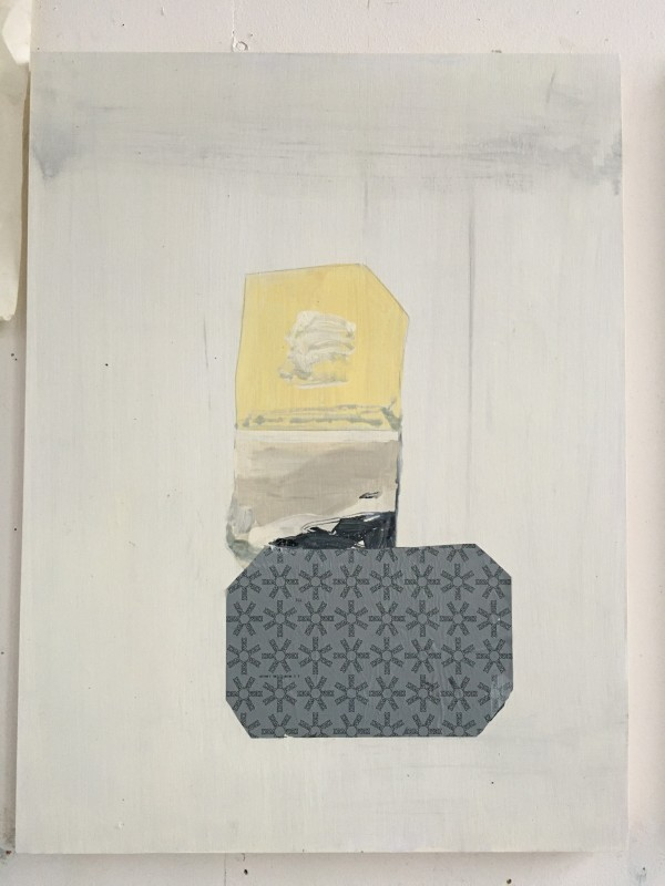 Yellow Misshaped Square, Filler and Carbon Paper by MaryAnn Puls