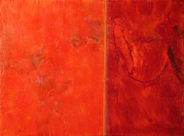 Annotation, Orange-Crimson by Cheryl D. McClure