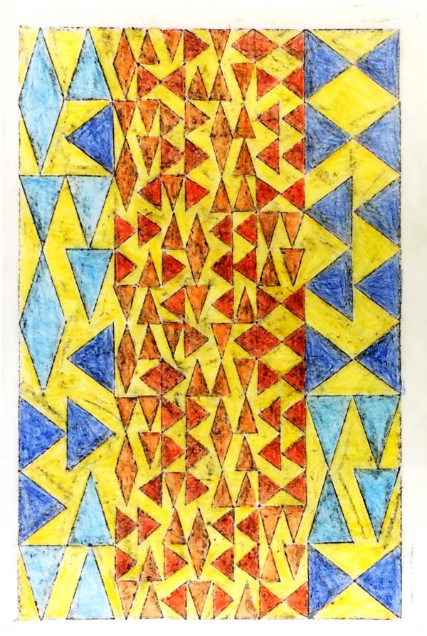 Blue & Orange Triangles by Bill Brookover