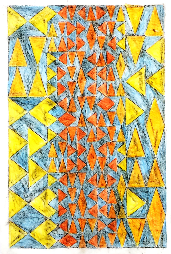 Yellow & Orange Triangles by Bill Brookover