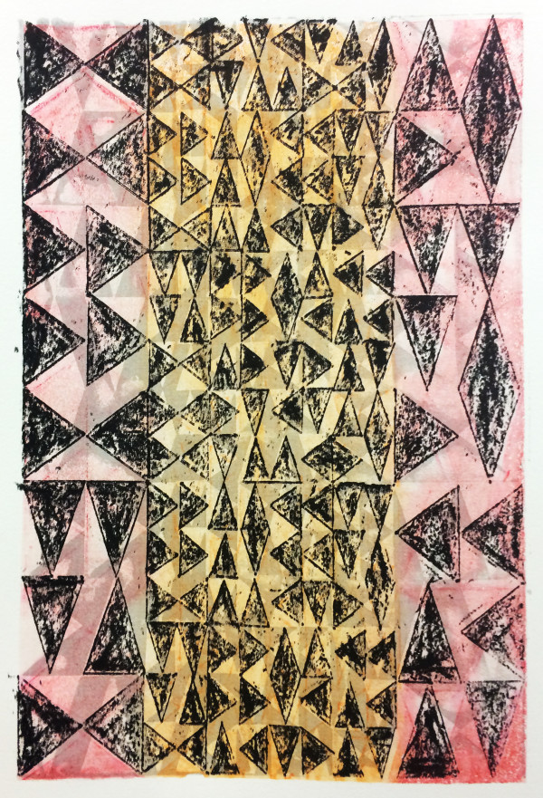 Layered Triangles #8 (Pink & Black) by Bill Brookover