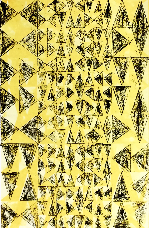 Layered Triangles #12 (Yellow & Black) by Bill Brookover