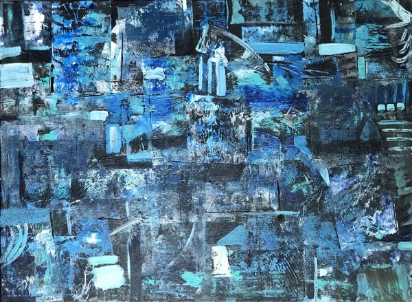Blue Map by Sheila Cahill