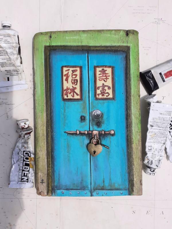 Love Lane Door, Penang by Elena Merlina