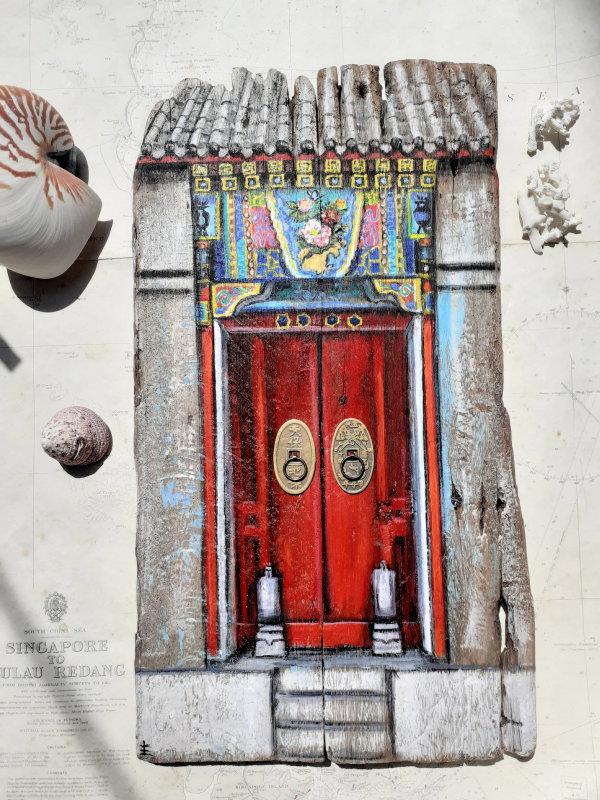 Chinese Temple Door by Elena Merlina