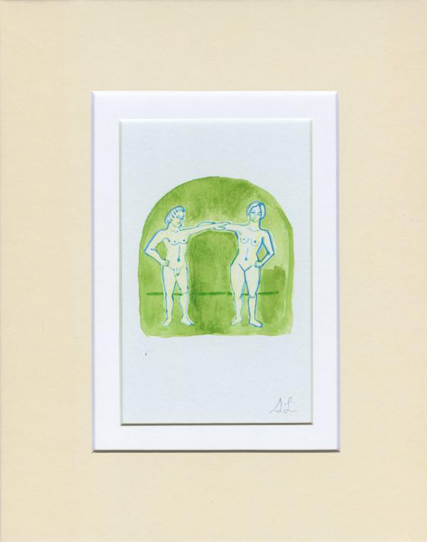 Etruscan Lovers in Green by Shelby Little