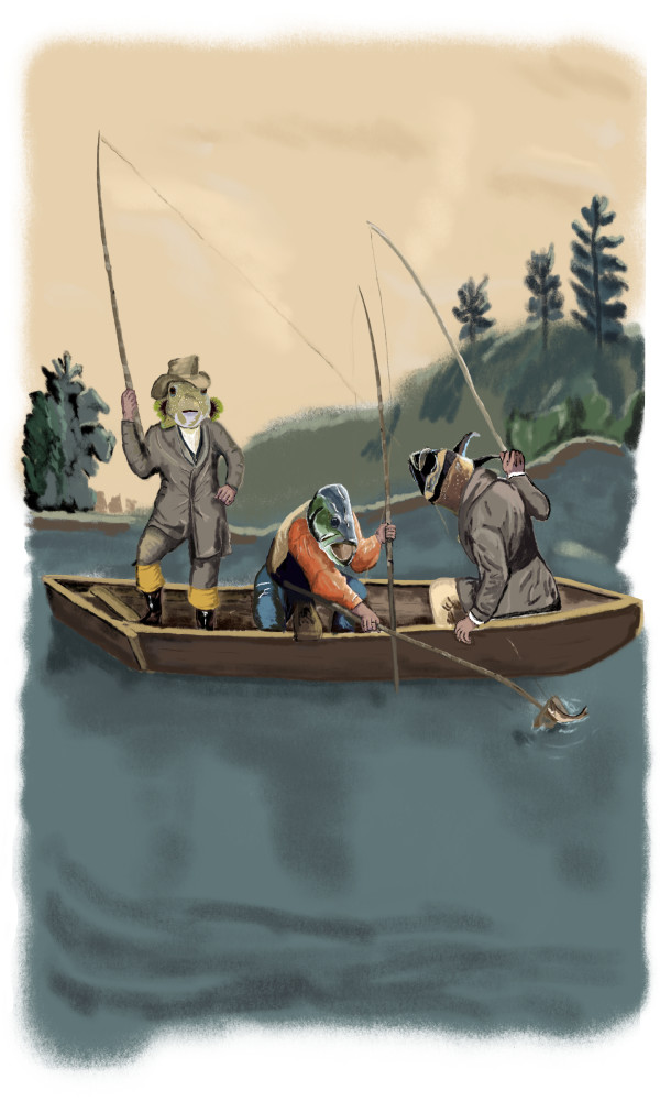Fishermen 18x24 only by matthew stitt
