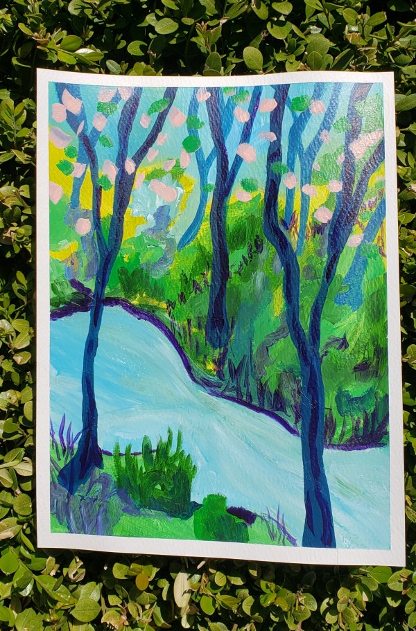 Spring Landscape 5 by Claire Sweitzer Hawkins