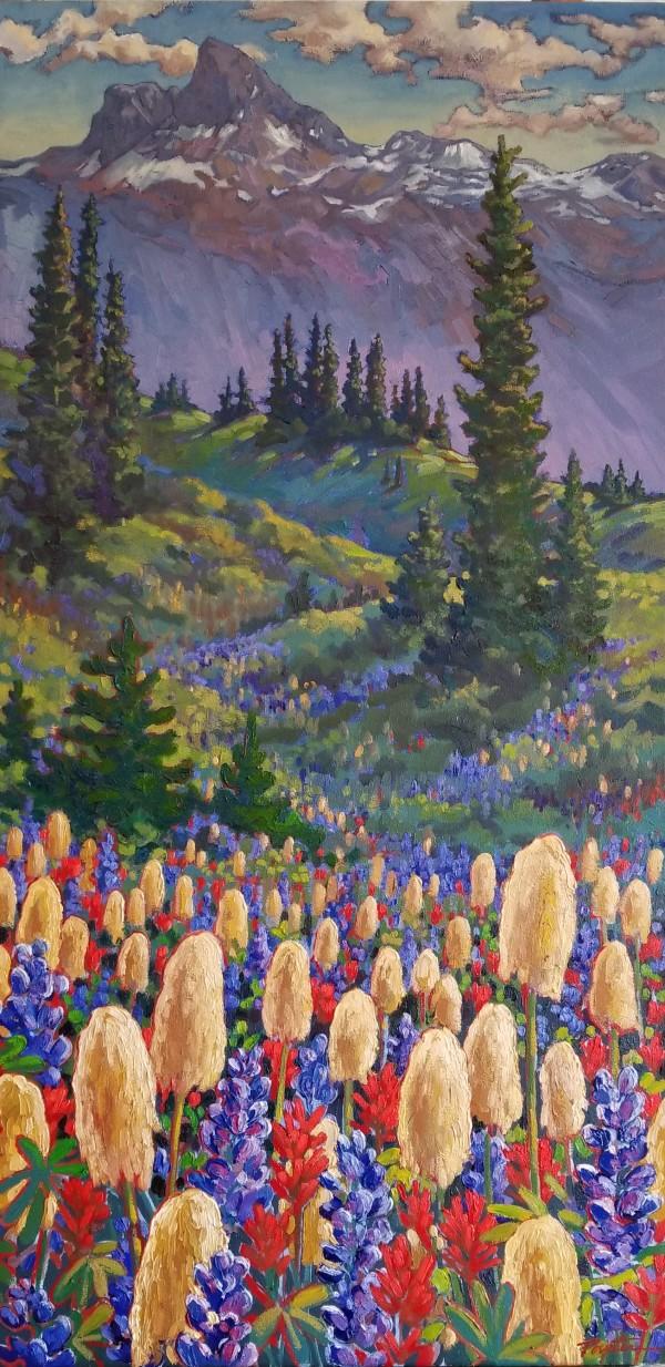 """""""Valley Haze - alpine meadow"""" by Jan Poynter"""