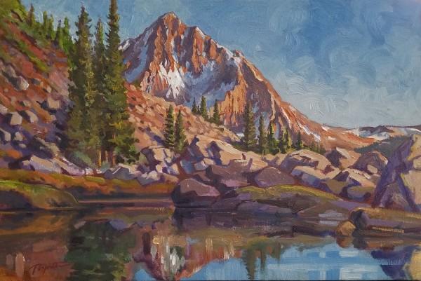 """Alpine - Mountain Red #2 "" by Jan Poynter"