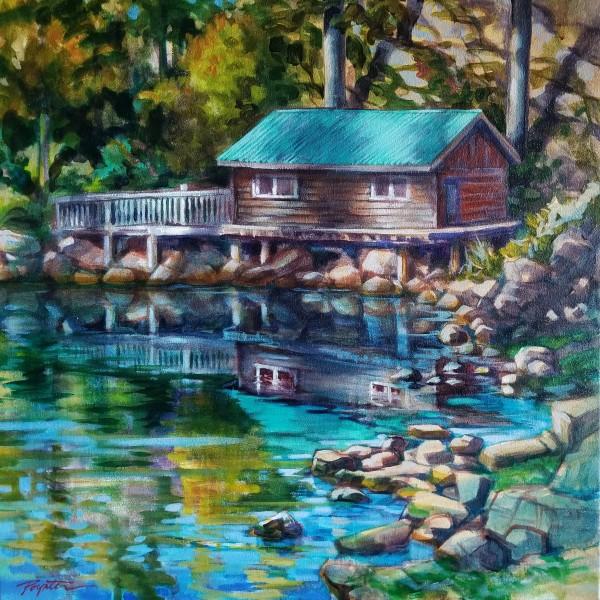 """tidal reflections - Garden Bay"" by Jan Poynter"