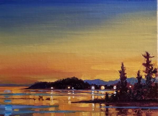 Gibsons late light by Jan Poynter