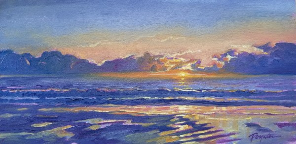"""Sunset - sand ripples"" by Jan Poynter"