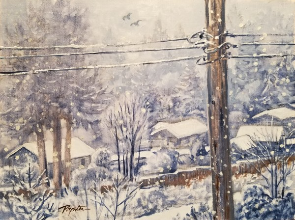 """""""Snow Day - view from the studio"""" by Jan Poynter"""