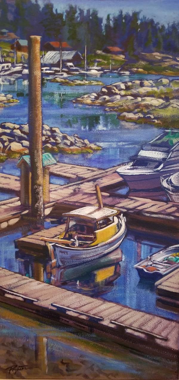 """Coho Marina - Gerrans Bay"" Pender Harbour by Jan Poynter"