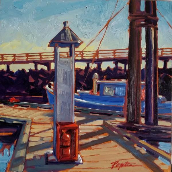"""Fireplug - Gibsons Landing wharf"" by Jan Poynter"