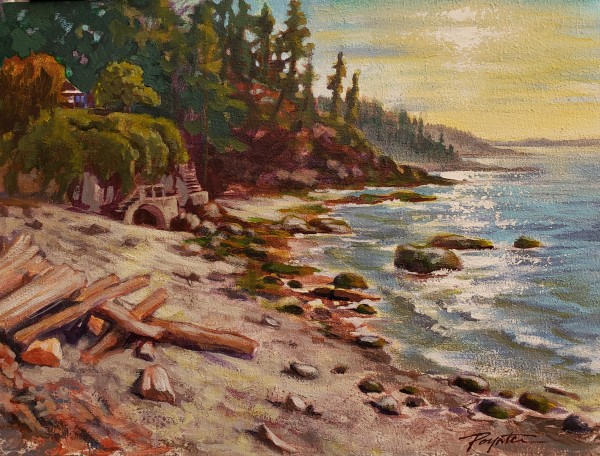 """Morning Shine - new beach"" by Jan Poynter"