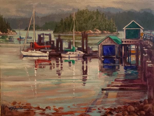 Dock - Porpoise Bay by Jan Poynter