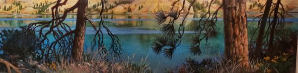 """""""Kal lake blues #1"""" by Jan Poynter"""