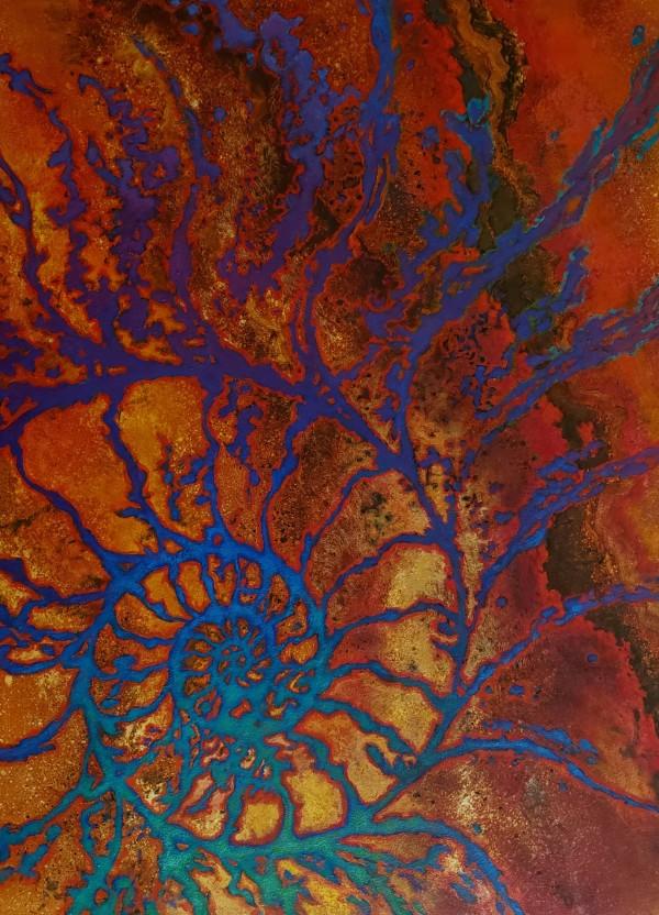 Natural Patterns - Nautilus golden by Jan Poynter