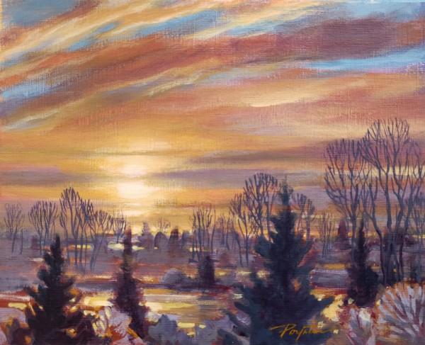 """""""Fraser reflections - Sunset #2"""" by Jan Poynter"""